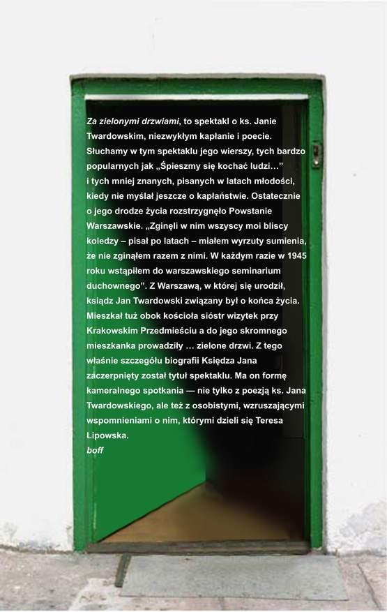 Za zielonymi drzwiami ulotka 2www